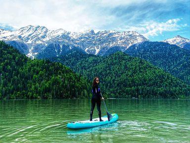 Абхазия: Гагра, водопады и катание на сапах по озеру Рица