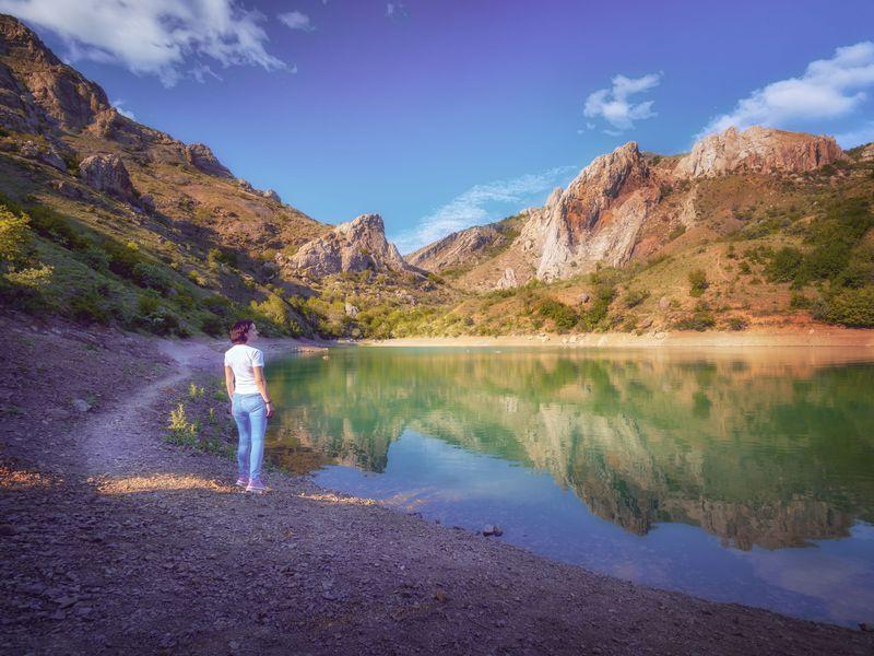 Экскурсия Другой Крым: Зеленое озеро и Арпатские водопады