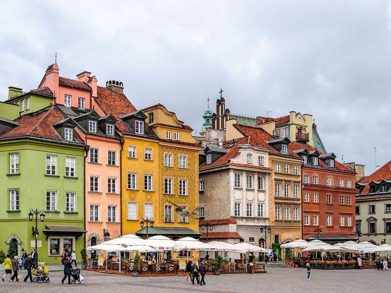 Авто-пешеходная прогулка по Варшаве