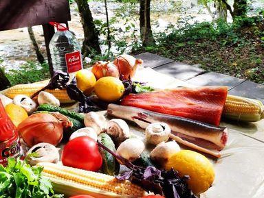 Гастро-Сочи: пикник с форелью у горной реки