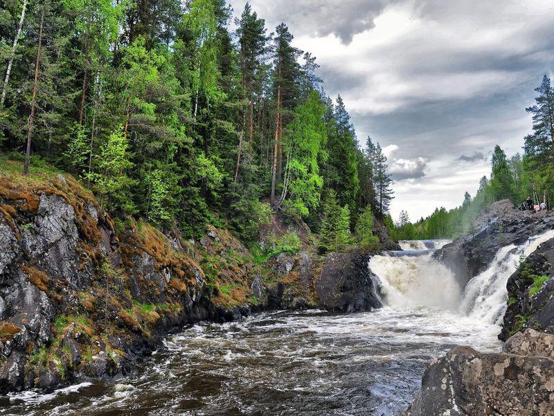 Экскурсия «Поет Кивач вбору сосновом»: путешествие кглавному водопаду Карелии