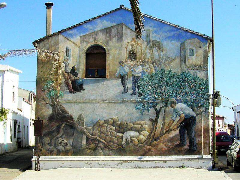 Экскурсия Мурализм Сан Сперате и сад поющих камней