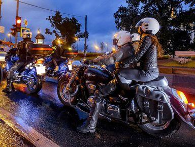 Ночной мототур— мосты имотоциклы
