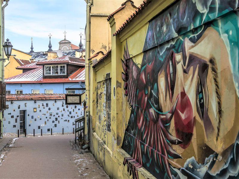 Экскурсия Контрасты Вильнюса: Старый город и богемная республика Ужупис