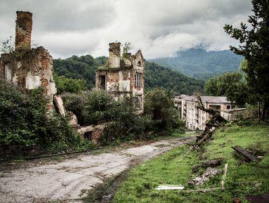 Город-призрак и природа Абхазии