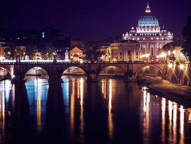 Вечерний Рим на машине