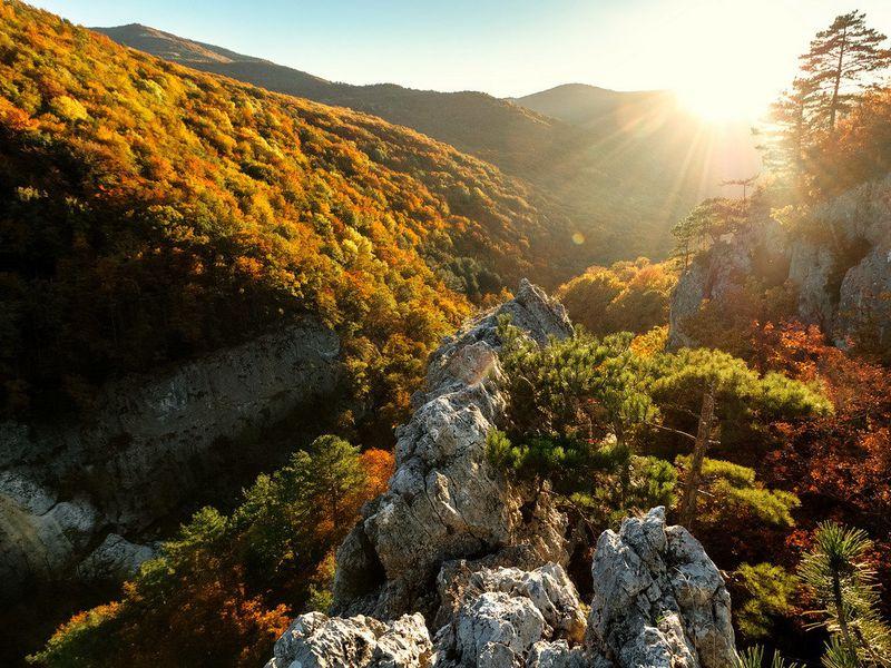 Экскурсия Большой каньон: осени крымской цветной палантин