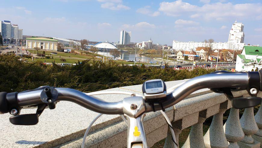 Вело-прогулка поМинску сместным жителем