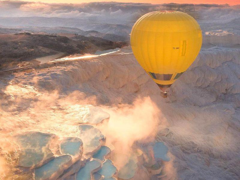 Экскурсия Над Памуккале— навоздушном шаре! Тур из Антальи