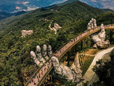Мосты Дананга икрасоты горы Бана
