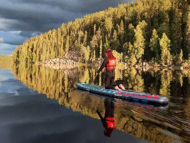 Осенняя прогулка на SUP-борде по озеру Ристиярви