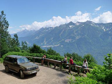 Прогулка по горам Кавказа к озеру Зеркальному