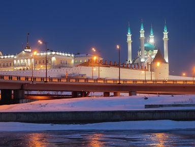 Вечерняя Казань на автомобиле