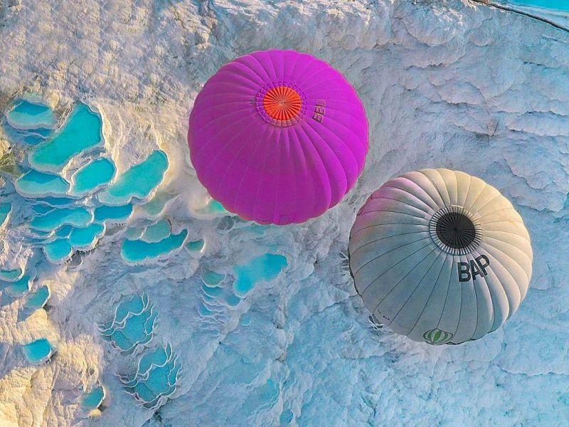 Экскурсия Над Памуккале— навоздушном шаре! Тур из Аланьи