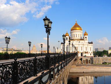 Москва с высоты колокольни храма Христа Спасителя