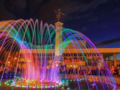 Красноярск под покровом ночи