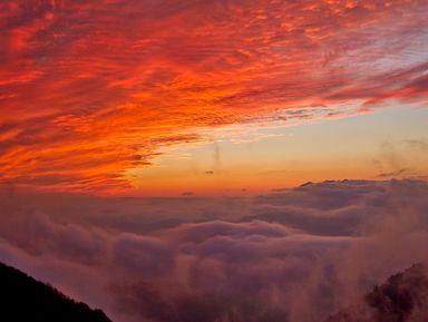 Красная поляна, закат в горах и легенды Кавказских гор