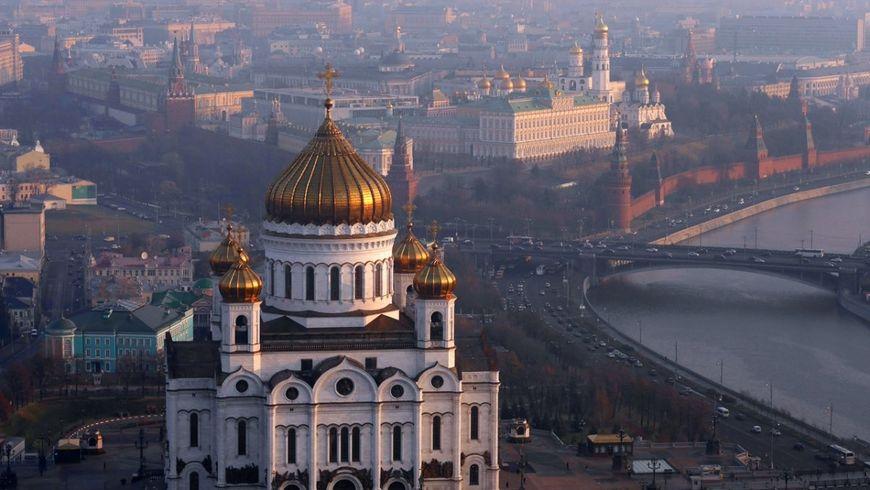 Храм Христа Спасителя и панорамы Москвы