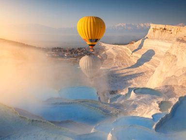 Над Памуккале— навоздушном шаре! Тур из Сиде
