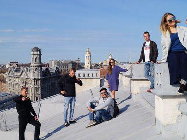 От крыши к крыше в центре Петербурга
