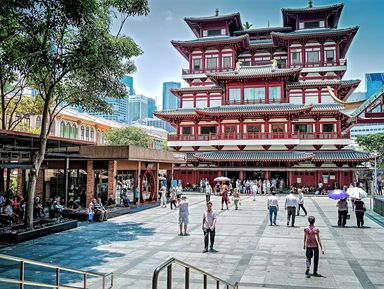 Сложить мозаику Сингапура