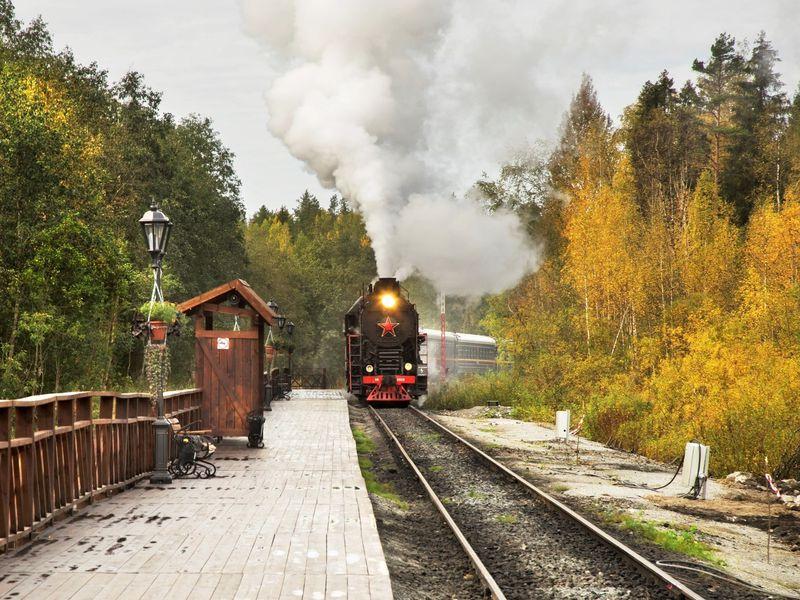 Экскурсия В Карелию! Каньон Рускеала и поездка на ретро-поезде